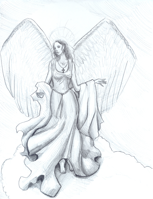 Pics For > Angel Sketch Drawings